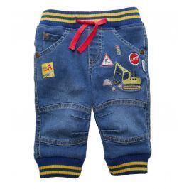 Gelati Chlapčenské nohavice so žeriavom - modré