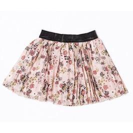Minoti Dievčenská skladaná sukňa s kvetinami Dusk - ružová