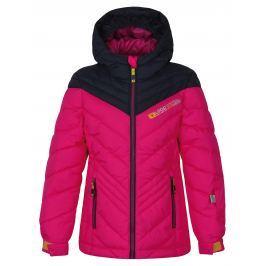 LOAP Dievčenská lyžiarska bunda Omrava - ružová