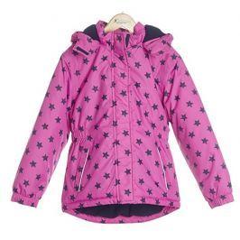Nickel sportswear Dievčenská zateplená bunda s hviezdičkami - ružová
