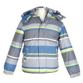 Nickel sportswear Chlapčenská prúžkovaná zateplená bunda - farebná
