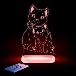Aloka Nočné svetielko Mačka + ovládač pre voľbu farieb