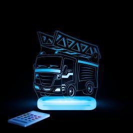 Aloka Nočné svetielko Hasičské auto + ovládač pre voľbu farieb