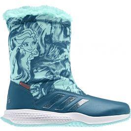 adidas Dievčenské snehule Frozen - petrolejové