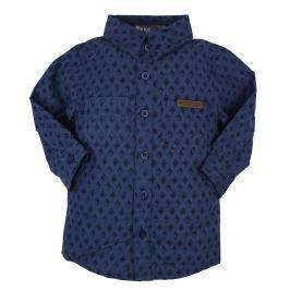 Dirkje Chlapčenská vzorovaná košeľa - tmvě modrá