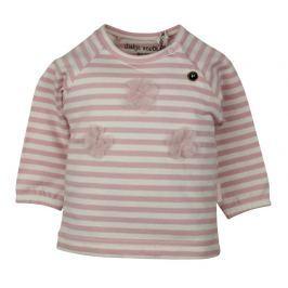 Dirkje Dievčenské pruhované tričko - ružové