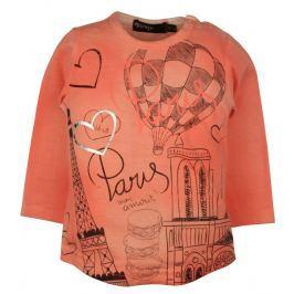 Dirkje Dievčenské tričko s balónom - oranžové