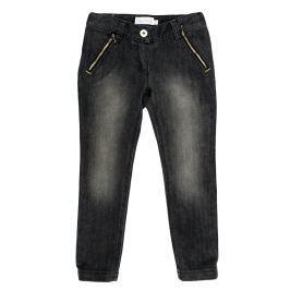 MMDadak Dievčenské nohavice City style - tmavo šedé