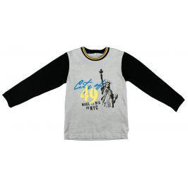 MMDadak Chlapčenské tričko Socha - šedo-čierne
