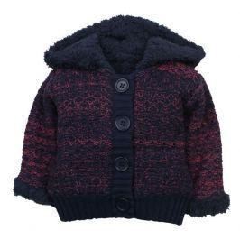 Dirkje Dievčenský sveter s kožušinkou - modro-červený