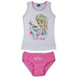 E plus M Dievčenský komplet tielka a nohavičiek Frozen - bielo-ružový