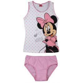 E plus M Dievčenský komplet tielka a nohavičiek Minnie - bielo-ružový