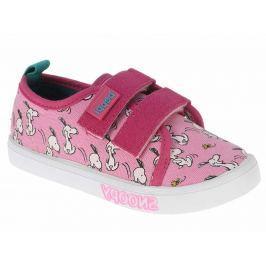 Beppi Dievčenské plátené tenisky Snoopy - ružové