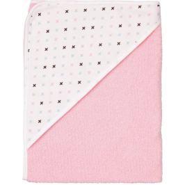 Luma Detská froté osuška s kapucňou - Pretty Pink