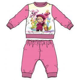 Disney by Arnetta Dievčenské pyžamo Máša a Medveď - svetlo ružová