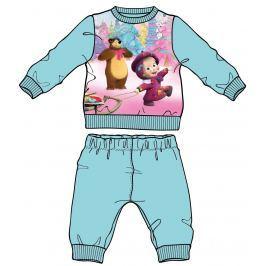 Disney by Arnetta Dievčenské pyžamo Máša a Medveď - modré