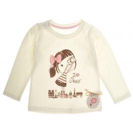 Garnamama Dievčenské tričko s dievčatkom - svetlo béžové