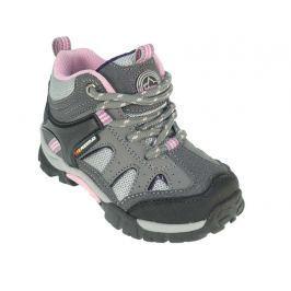 Beppi Dievčenské outdoorové topánky - šedo-ružové