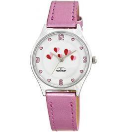 Bentime Dievčenské hodinky so srdiečkami - ružové