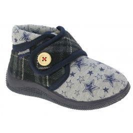 Beppi Chlapčenské voňavé papučky s hviezdičkami - šedé