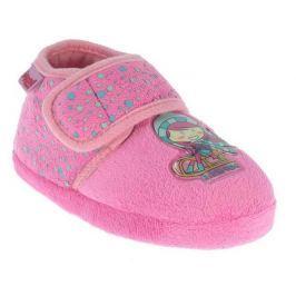 Beppi Dievčenské papučky s dievčatkom - ružové