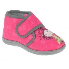 Beppi Dievčenské papučky s dievčatkom- ružové