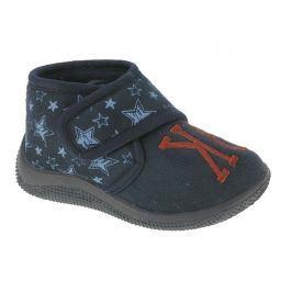 Beppi Chlapčenské voňavé papučky s hviezdičkami - modré