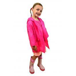 PIDILIDI Dievčenská neónová pláštenka - ružová