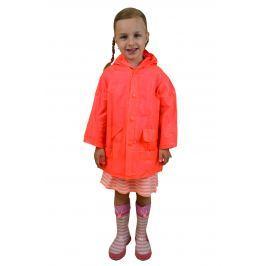 PIDILIDI Dievčenská neónová pláštenka - oranžová