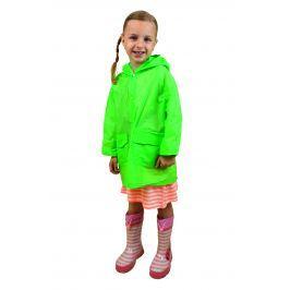 PIDILIDI Detská neónová pláštenka - zelená