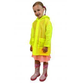 PIDILIDI Detská neónová pláštenka - žltá