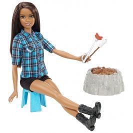 MATTEL Barbie Bábika pri ohni brunetka