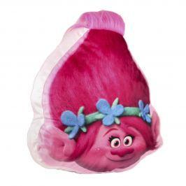 Disney Brand Dievčenský 3D vankúš Trollovia Poppy - ružový