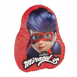 Disney Brand Dievčenský vankúš Ladybug - červený