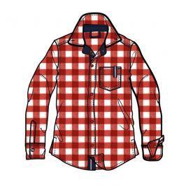Mix 'n Match Chlapčenská kockovaná košeľa - červeno-biela