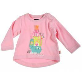 Blue Seven Dievčenské tričko s mačičkami - ružové