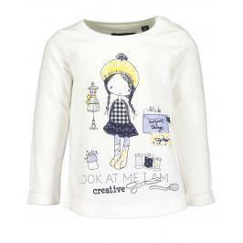 Blue Seven Dievčenské tričko s dievčaťom - biele