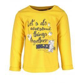 Blue Seven Dievčenské tričko s nápisom - žlté