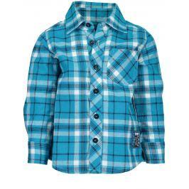 Blue Seven Chlapčenská kockovaná košeľa - modrá
