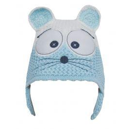 EKO Dievčenská čiapka Myška - modrá