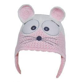 EKO Dievčenská čiapka Myška - ružová