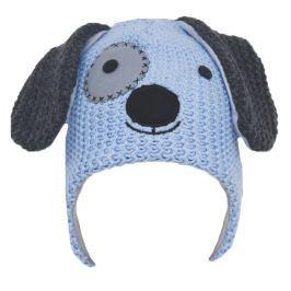 EKO Chlapčenská čiapka Psík - modrá