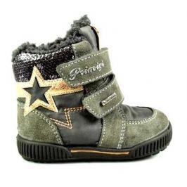 Primigi Dievčenské zimné topánky s hviezdou - šedé