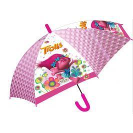 E plus M Dievčenské dáždnik Trollovia - ružový