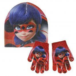 Disney Brand Dievčenské set čiapky a rukavíc Ladybug - farebný
