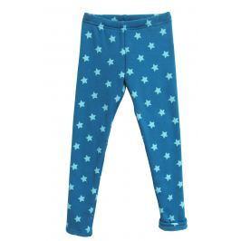 Topo Dievčenské zateplené legíny s hviezdičkami - modré