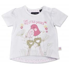 Blue Seven Dievčenské tričko Little garden - biele