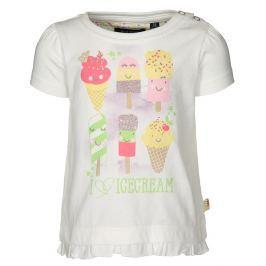Blue Seven Dievčenské tričko Icecream - biele
