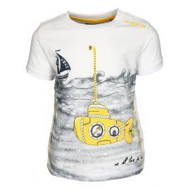 Blue Seven Chlapčenské tričko s ponorkou - biele