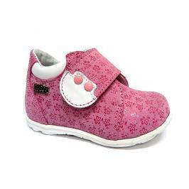 Ren But Dievčenské celokožené členkové topánky - ružové